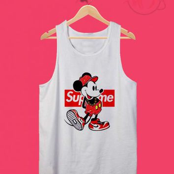 Old Disney Mickey Mouse Style Supreme Tank Top Design Ideas