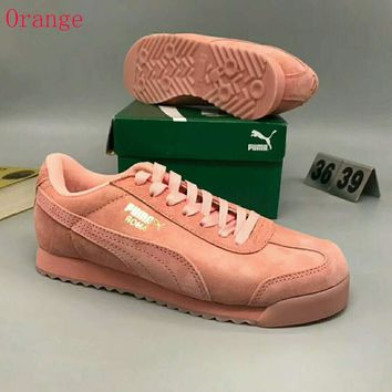 PUMA Roma Basic Women Casual Running Sport Shoes Sneakers Orange G-MPYDX