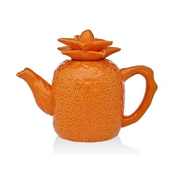 Pineapple Teapot Orange