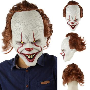 Halloween Latex 3D Mask Horror Sorcerer Clown Mask Haunted House Room Escape Dress Up Live Show Scary Head Cover Halloween Masks