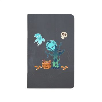 Halloween Spooky Creepy Ghosts Bats Skulls & Cand Journal