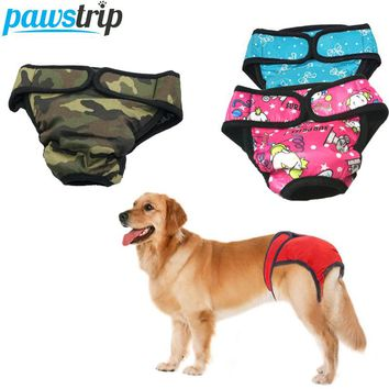 XS-XXL 10 Design Washable Dog Diapers For Medium Large Breed