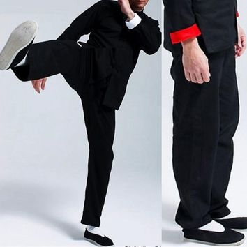 Bruce Lee Vintage Chinese wing chun Kung Fu Uniform Martial Arts Tai Chi Suits Classic Cotton  pants one