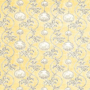 Vervain Fabric 5005802 Warrenton Toile Yellow