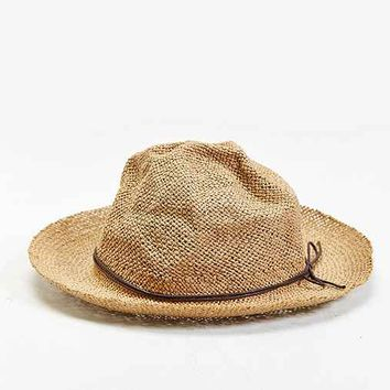 Rosin Overturned Brim Straw Hat- Tan