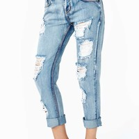 One Teaspoon Mustang Boyfriend Jeans