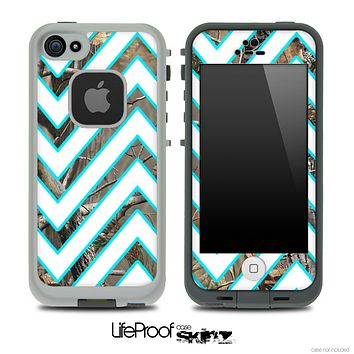 Large Chevron and Real Camo Skin for the iPhone 5 or 4/4s LifeProof Case