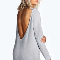 Kelly Strap Plunge V Back Jumper