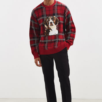 UO Tartan Crew Neck Sweater | Urban Outfitters