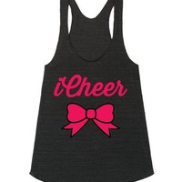 iCheer-Unisex Athletic Tri Black Tank