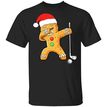 Dabbing Gingerbread Santa Golf Christmas Pajama Gifts