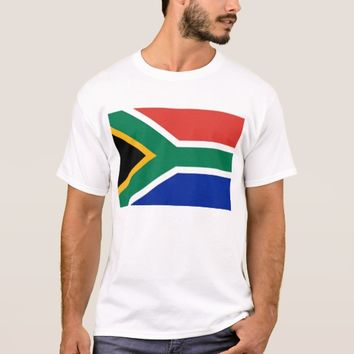 T Shirt with Flag of South Africa