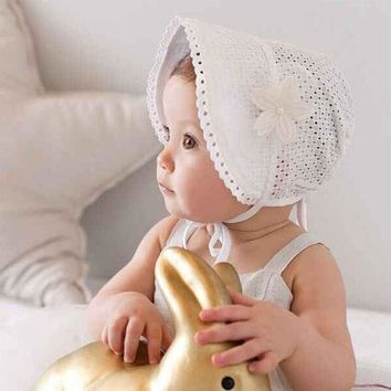 ESBONJ Sweet Lovely Cute Princess Children Kids Girls Baby Hat Beanie Pink New Lace Floral Caps SUY