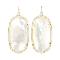 Kendra Scott Danielle Ivory Mother of Pearl Earrings 14K Gold