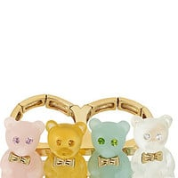 BetseyJohnson.com - GUMMY BEAR 2 FINGER RING MULTI