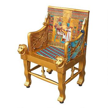 King Tutankhamen's Egyptian Throne Chair - WU70259 - Design Toscano