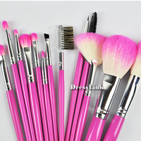 Eye Face Goat Hair Makeup Brush Make up Brushes Pink Tool Kit Set Cosmetic 13pcs