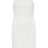 Zig Zag And Dots Pearls Embroidered Dress | Moda Operandi