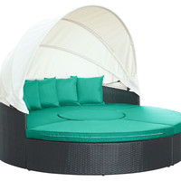Charlotte Canopy Daybed, Turquoise, Outdoor Daybeds