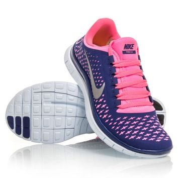 Nike Free 3.0 V4 - Womens Running Shoes - Purple/Pink