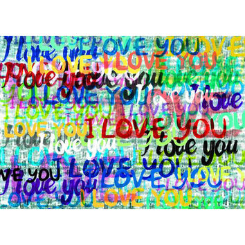 I Love You Print Wall Art