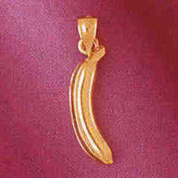 14K GOLD FOOD CHARM - BANANA #6897