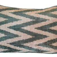 Cari 16x24 Silk Pillow, Dark Green, Decorative Pillows