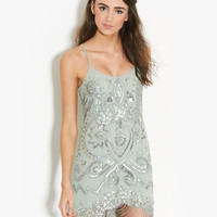 Belinda Sea Flapper Dress