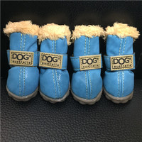 Super Warm Dog Winter Boots 4pcs/set Dogs