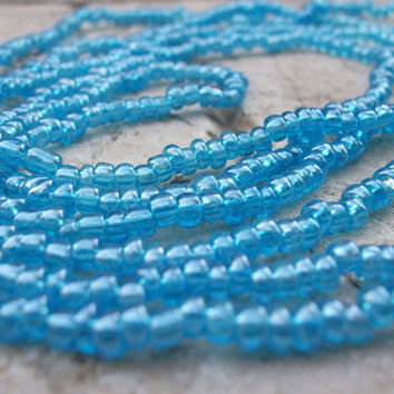 Aqua Blue Murano glass beads from Venice, Italy