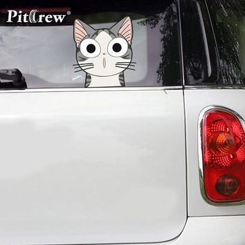 1PC 21*19cm High Quality Funny Chi Cat Cartoon Car Sticker Vinyl Window Decal