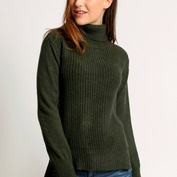 Green Ivy Turtleneck Sweater