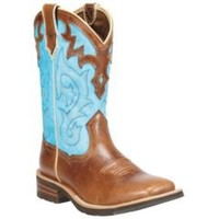 Sheplers: Ariat Unbridled Blue Cowgirl Boots - Square Toe