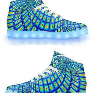 The Torus by Alex Aliume - APP Controlled High Top LED Shoes