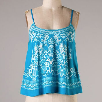 Beach Getaway Tank in Blue