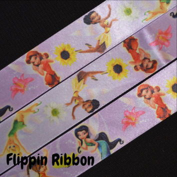 Tinker Bell and Friends Ribbon, 3 Yards, 1 inch Satin