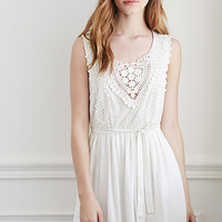 Crochet and Lace Babydoll Dress