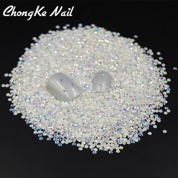 2000pcs bag ss6 2mm Flatback Jelly White AB Colors Round Candy R. Item  Type  Rhinestone   Decoration ... 711a8c0decc6
