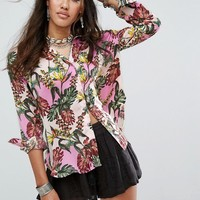 Free People Under The Palms Buttondown Shirt at asos.com