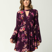 PATRONS OF PEACE Floral Bell Sleeve Dress