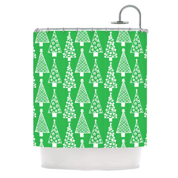 "Emine Ortega ""Jolly Trees Green"" Forest Shower Curtain"