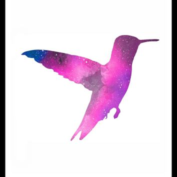 Printed Watercolor Art Print Hummingbird Poster Art Image Unframed