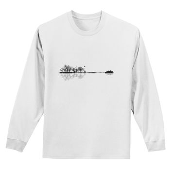 Nature's Harmony Guitar Adult Long Sleeve Shirt by TooLoud