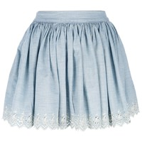 Ralph Lauren Denim & Supply Embroidered Eyelet Mini Skirt - Penelope - Farfetch.com