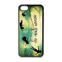 Customized iPhone Case Peter Pan Never Grow Up Printed Durable Hard iPhone 5C Case Cover