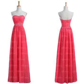 red bridesmaid dress, unique bridesmaid dress long, chiffon bridesmaid dress, cheap bridesmaid dress, dresses for bridesmaids, 2015 dresses