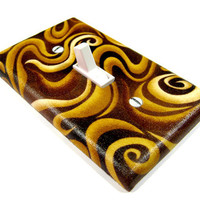 Coffee Swirls Light Switch Cover Brown Rustic Home by ModernSwitch