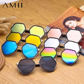 AMII 2018 Fashion Brand Aviator Sunglasses Women Clear Lens Female Sun Glasses Photochromic Male Glasses Driving Goggles MT72