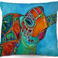 Decorative Woven Couch Throw Pillows from DiaNoche Designs by Patti Schermerhorn Unique Bedroom, Living Room and Bathroom Ideas Seaglass Sea Turtle