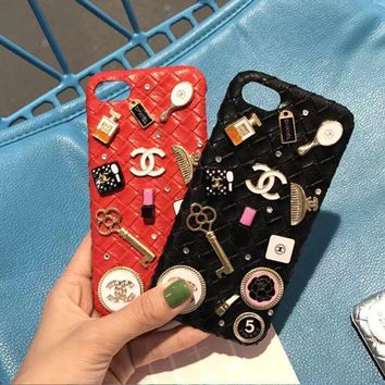 Chanel iPhone case 4.7 5.5 6plus 7 red Color diamond I